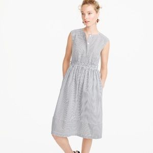 NWT J. Crew Cap-Sleeve Dress in Shirting Stripe